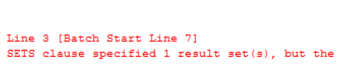 Troubles in Exec @stmt With Result Sets