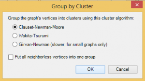 NodeXL – Clustering Clauset-Newman-Moore