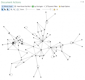 NodeXL imported options progress graph