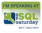 Speaking at SQLSaturday Oslo, Norway 2014