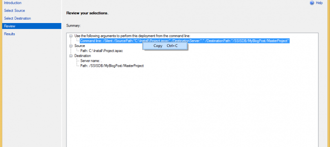 SSIS Project Deployment under different name