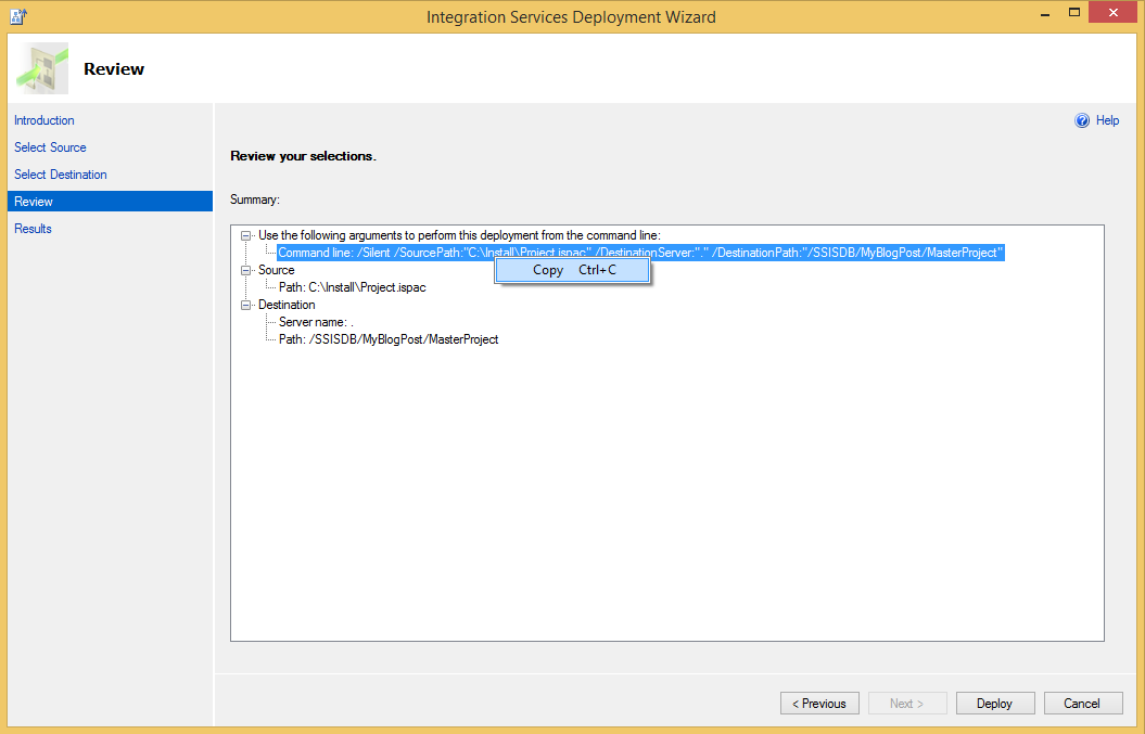 SSIS Project Deployment under different name – Niko Neugebauer