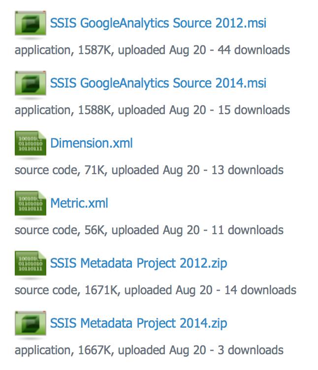 SSIS GoogleAnalyticsSource 1 7 – Niko Neugebauer