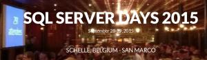 SQLServer Days 2015
