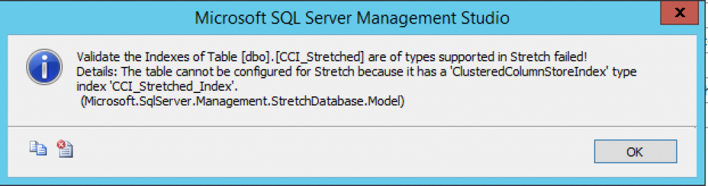 Enable Stretching CCI - Error Message GUI