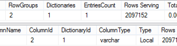"Columnstore Indexes – part 84 (""Practical Dictionary Cases"")"