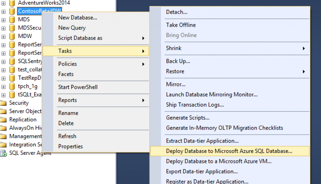 select-db-to-migrate-in-ssms