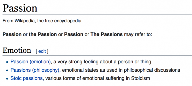 The Enterprise Passion