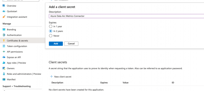 Azure Arc for Data Services, part 5 – Service Principals for the Direct Mode & Indirect Mode
