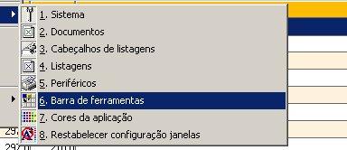 Factuplus 2006 active menu