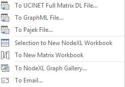 NodeXL Export Menu
