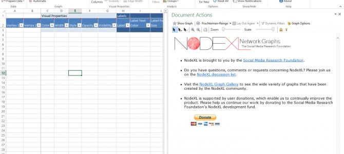 NodeXL – Accessible Network Graph Analysis, part 2