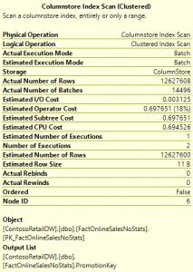 Columnstore Index Scan