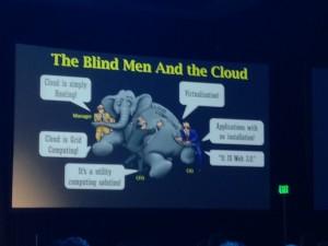 Cloud and Blind Men