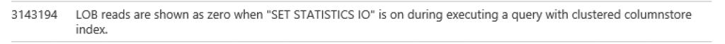 LOB Reads Set Statistics IO Connect Item