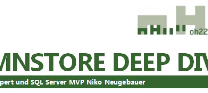 1 Day Workshop – Columnstore Deep Dive (in German) on 6th of October 2016