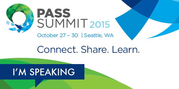 Speaking at PASS Summit 2015
