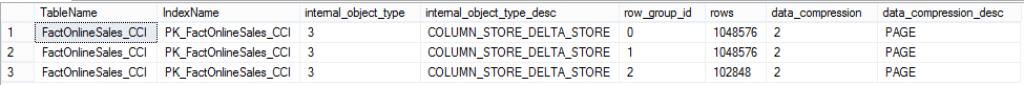 CTP 2.3 Delta-Stores Compression