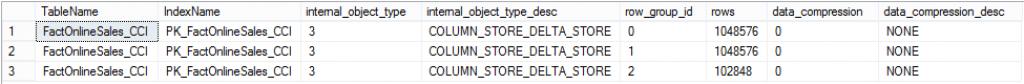 CTP 2.4 Delta-Stores Compression