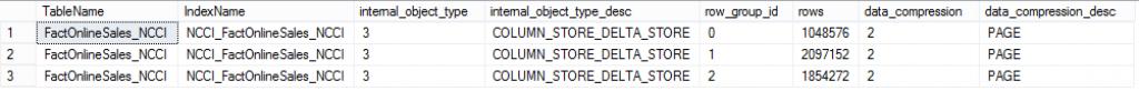NCCI Delta-Stores Compression