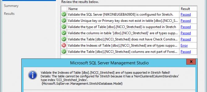 """Columnstore Indexes – part 75 (""""Stretch DB & Columnstore"""")"""