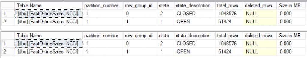 Compression Delay - CISL RowGroupsDetails results with Delay