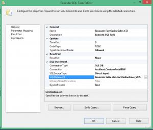 SQL Task for Truncating Destination