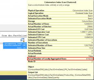 Columnstore Index Scan Local Aggregation