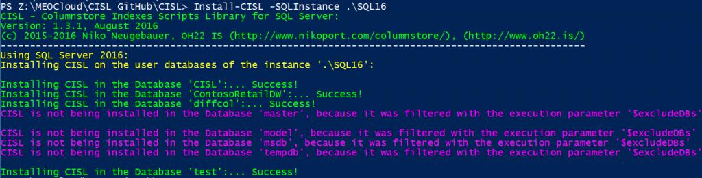 Install-CISL SQL Server 2016