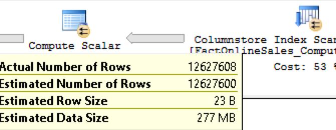 "Columnstore Indexes – part 108 (""Computed Columns"")"