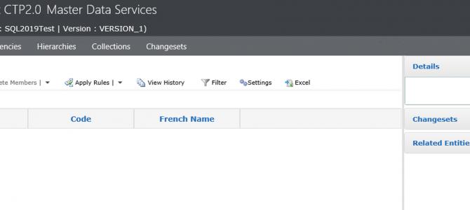 Master Data Services in SQL Server 2019